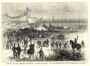 1878 Launch Of The Masonic Lifeboat Albert Edward Clacton On Sea